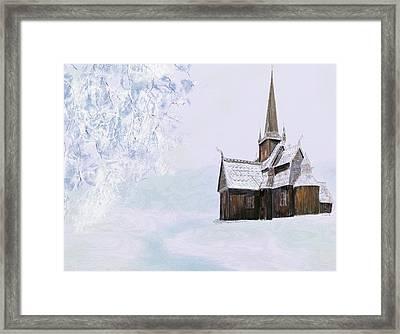 Norsk Kirke Framed Print