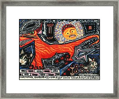 Nortenos Surenos Viva Rufino Tamayo Simon Framed Print