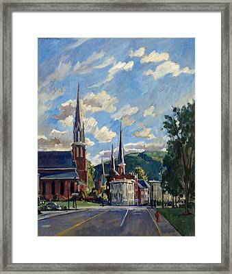 North Adams Massachusetts Framed Print