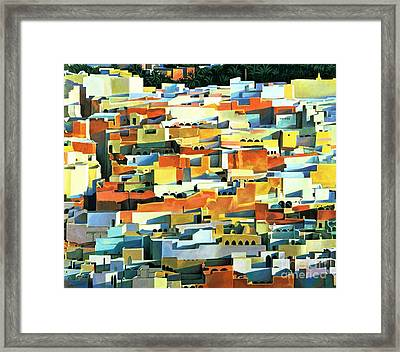North African Townscape Framed Print by Robert Tyndall
