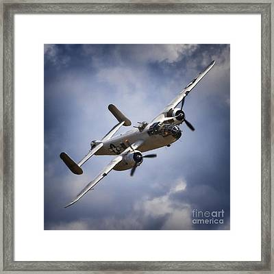 Pacific Princess North American B-25 Mitchell Silver Blue Framed Print by Gus McCrea