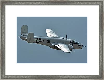 North American B-25j Mitchell N3675g Photo Fanny Chino California April 30 2016 Framed Print by Brian Lockett