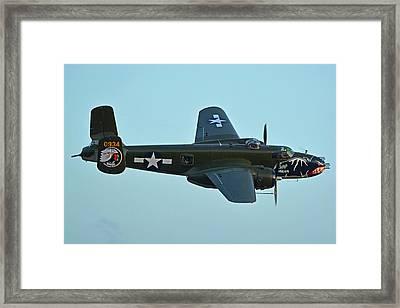 North American B-25j Mitchell N5672v Betty's Dream Chino California April 29 2016 Framed Print by Brian Lockett
