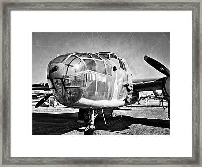 North American B25j Mitchell Framed Print by Glenn McCarthy Art and Photography