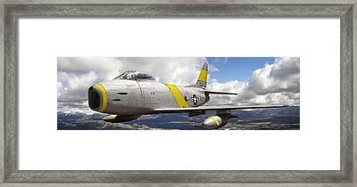 North American F-86 Sabre Framed Print by Larry McManus