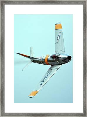 North American F-86f Sabre Nx186am Chino California April 29 2016 Framed Print by Brian Lockett