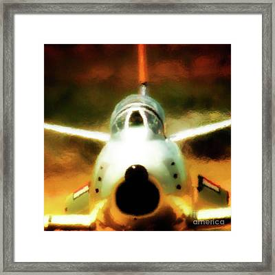 North American F86 Sabre Don't Move 2011 Chino Air Show Framed Print