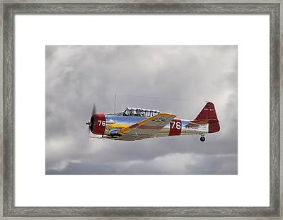 North American Harvard  Vh-nzh Framed Print by Barry Culling