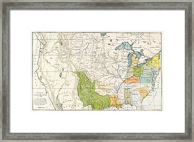 North American Indian Tribes, 1833 Framed Print