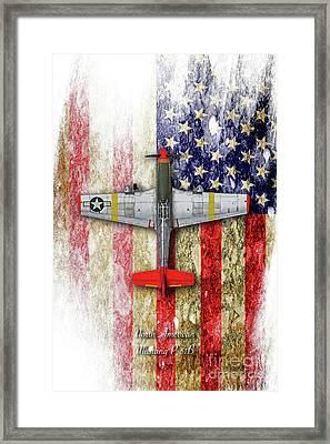 North American Mustang P-51b Framed Print by J Biggadike