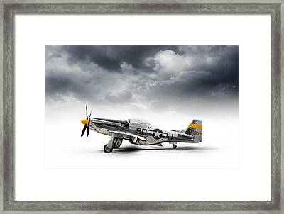 Framed Print featuring the digital art North American P-51 Mustang by Douglas Pittman
