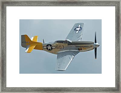North American P-51d Mustang Nl5441v Dolly/spam Can Chino California April 30 2016 Framed Print by Brian Lockett