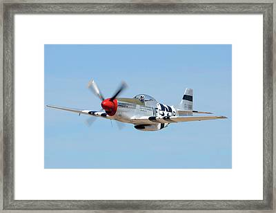 North American P-51d Mustang Nl5441v Spam Can Valle Arizona June 25 2011 1 Framed Print