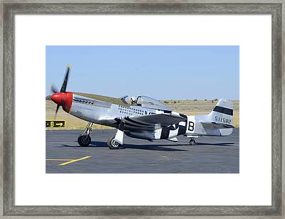 North American P-51d Mustang Nl5441v Spam Can Valle Arizona June 25 2011 3 Framed Print