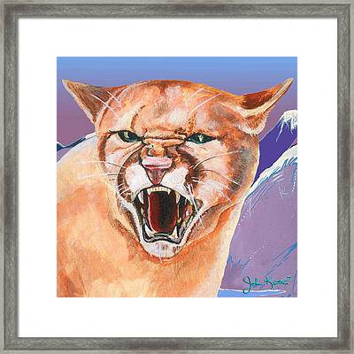 North American Puma Framed Print by John Keaton