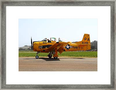 North American T28 Trojan Us Navy Aircraft 7d15808 Framed Print by Wingsdomain Art and Photography