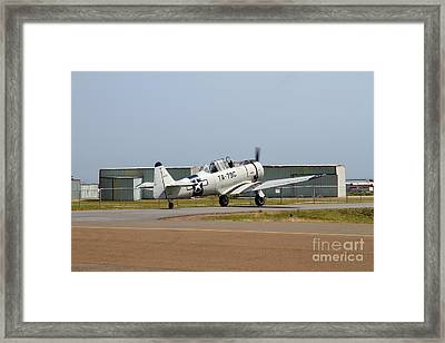 North American T6 Texan Military Aircraft 7d15784 Framed Print by Wingsdomain Art and Photography