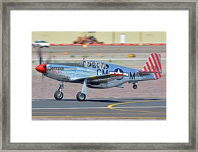 Framed Print featuring the photograph North American Tp-51c-10 Mustang Nl251mx Betty Jane Deer Valley Arizona April 13 2016 by Brian Lockett