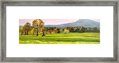 North Amherst View Framed Print