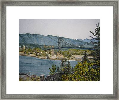 North And West Framed Print by Shirley Braithwaite Hunt