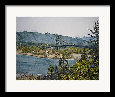 North Vancouver Paintings Framed Prints