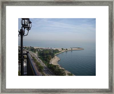 North Avenue Beach Framed Print by Julie Ringer
