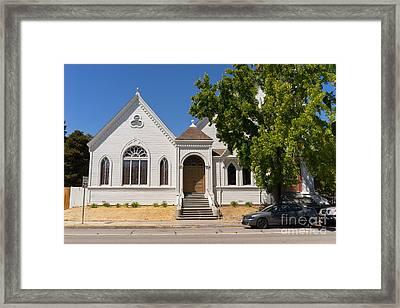 North Bay Revival Center Church Petaluma California Usa Dsc3793 Framed Print by Wingsdomain Art and Photography