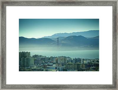 North Beach And Golden Gate Framed Print by Hal Bergman Photography