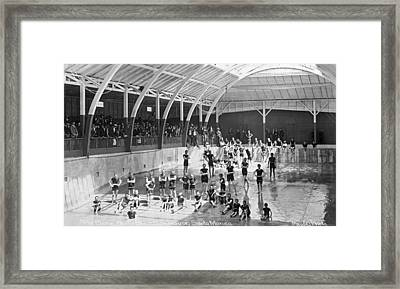 North Beach Bath House Framed Print by Underwood Archives