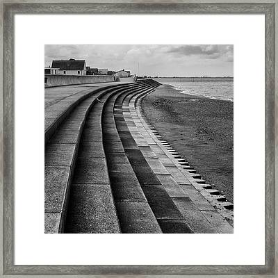 North Beach, Heacham, Norfolk, England Framed Print by John Edwards
