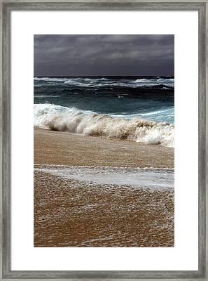 North Beach, Oahu V Framed Print
