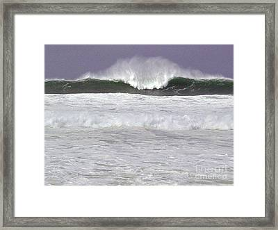 North Beach Winter Framed Print