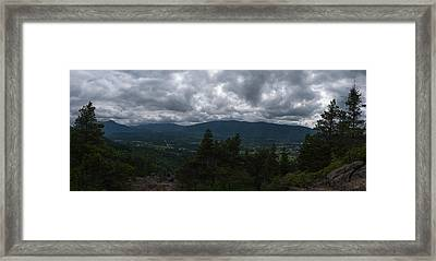 Framed Print featuring the photograph North Bend Washington Panorama by Joshua House