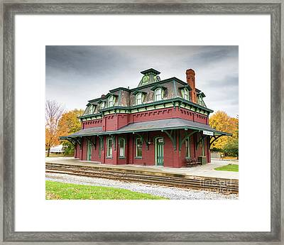 North Bennington Station Framed Print