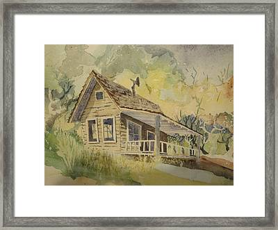 Framed Print featuring the painting North Bloomfield by Steven Holder