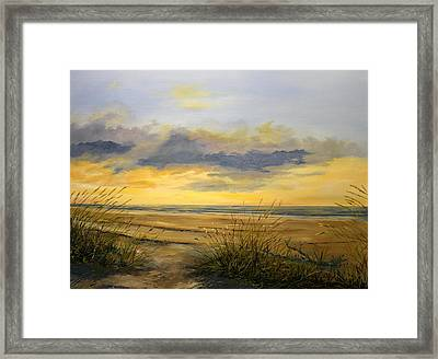 North Captiva Sunset Framed Print by Ken Ahlering