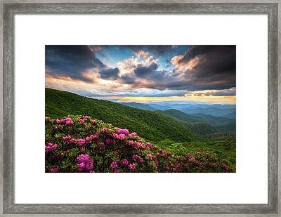 North Carolina Blue Ridge Parkway Scenic Landscape Asheville Nc Framed Print