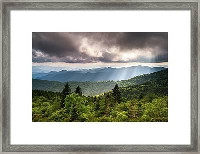 North Carolina Blue Ridge Parkway Scenic Mountain Landscape Framed Print