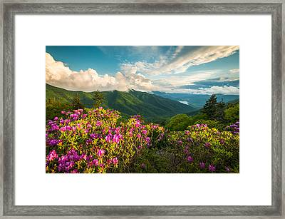 North Carolina Blue Ridge Parkway Spring Mountains Scenic Landscape Framed Print by Dave Allen