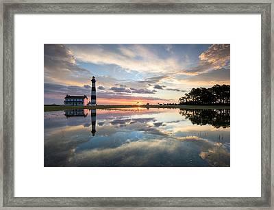 North Carolina Bodie Island Lighthouse Sunrise Framed Print by Mark VanDyke