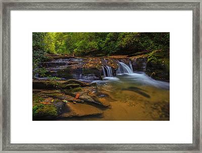 North Carolina Cascade Framed Print