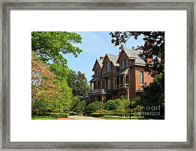 North Carolina Executive Mansion Framed Print
