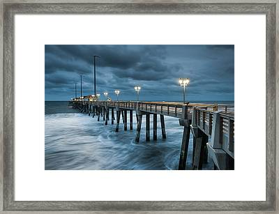 North Carolina Fishing Pier Outer Banks Framed Print by Mark VanDyke
