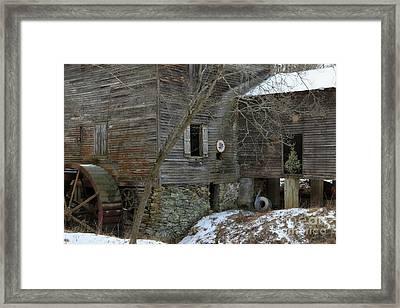 North Carolina Grist Mill Framed Print by Benanne Stiens