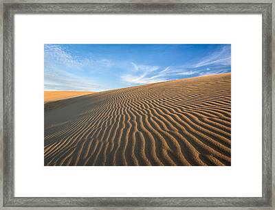 North Carolina Jockey's Ridge State Park Sand Dunes Framed Print by Mark VanDyke