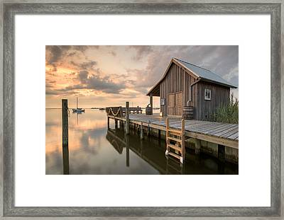 North Carolina Manteo Historic Fisherman's Net House Framed Print