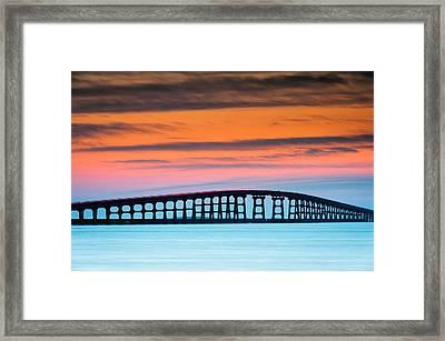 North Carolina Outer Banks Herbert C. Bonner Oregon Inlet Bridge Framed Print by Mark VanDyke