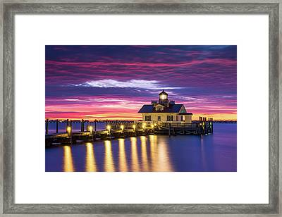 North Carolina Outer Banks Lighthouse Manteo Obx Nc Framed Print by Dave Allen