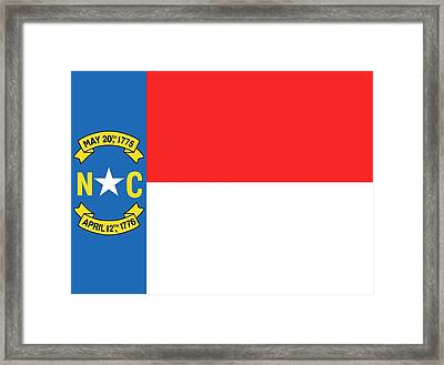 North Carolina State Flag Framed Print by American School