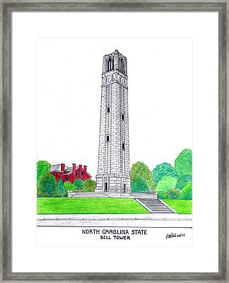 North Carolina State Framed Print by Frederic Kohli